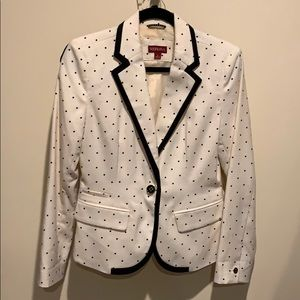 Target Merona Ivory and Black Polka Dot Blazer